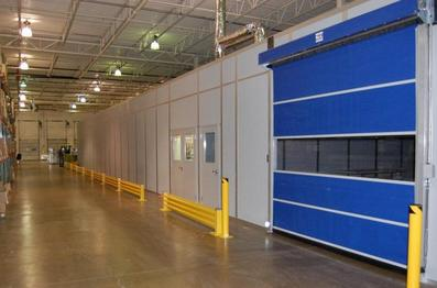 Modular Building with Roll Up Door and Safety Guards South Carolina